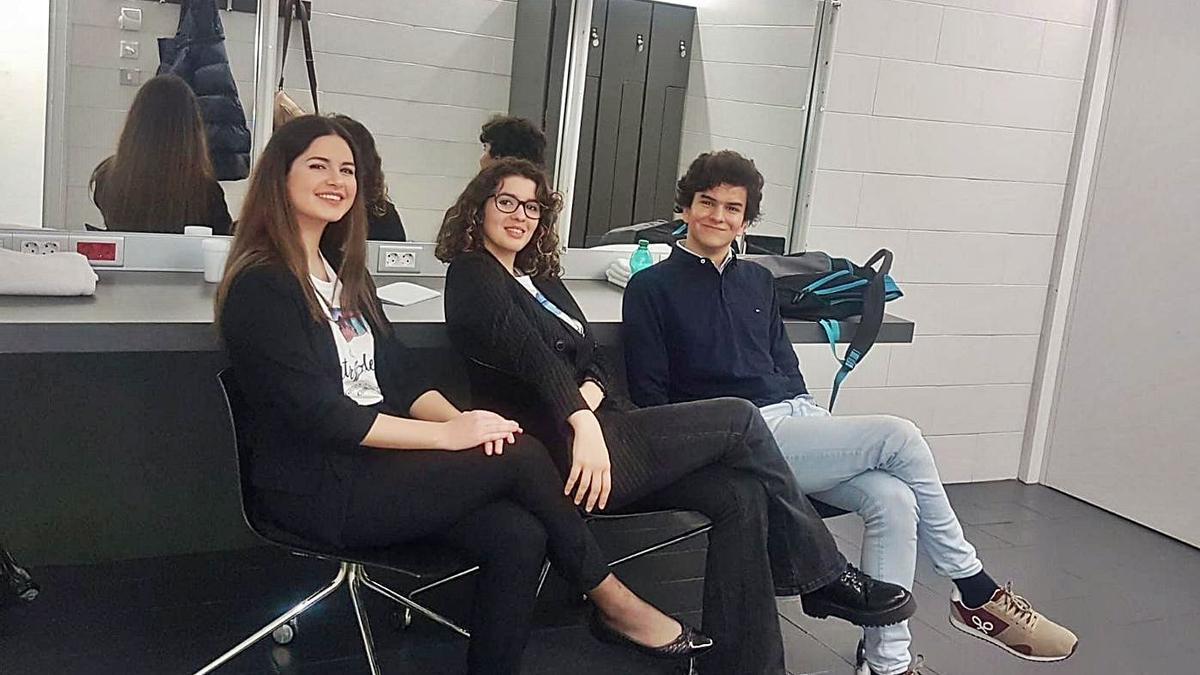 Los tres alumnos responsables del proyecto.