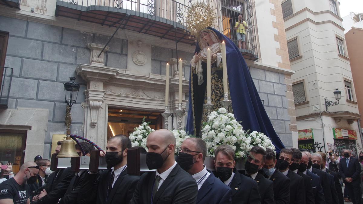 La Virgen del Amor, de la cofradía de El Rico, en la feligresía de Santiago.