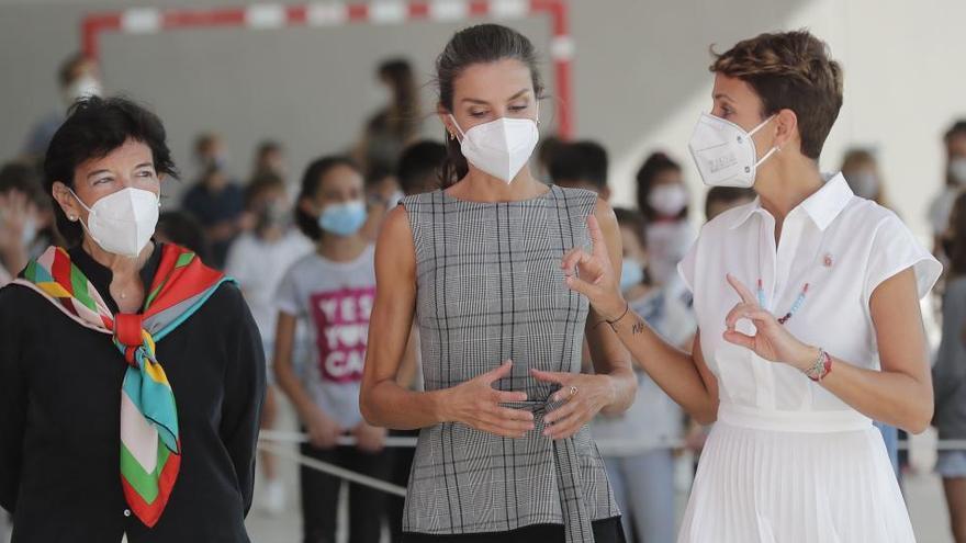 La Reina visita a los alumnos navarros en el inicio de curso