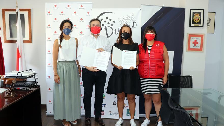 Cruz Roja en Zamora firma un convenio de colaboración con el Club Pádel Duero