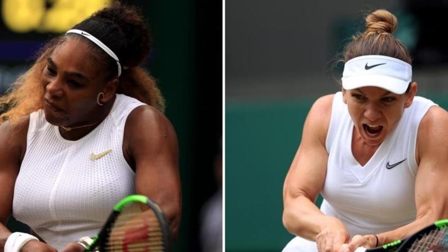 Serena Williams i Simona Halep jugaran la final de Wimbledon