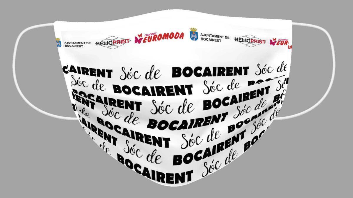 La mascarilla personalizada de Bocairent repartida a los vecinos