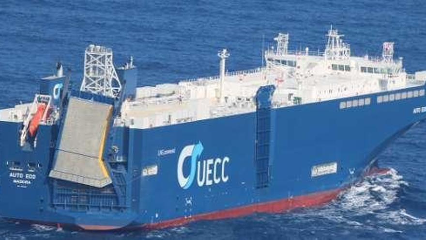 El Puerto vigués recibirá de nuevo la escala del buque Ro-Ro más grande del mundo impulsado por GNL