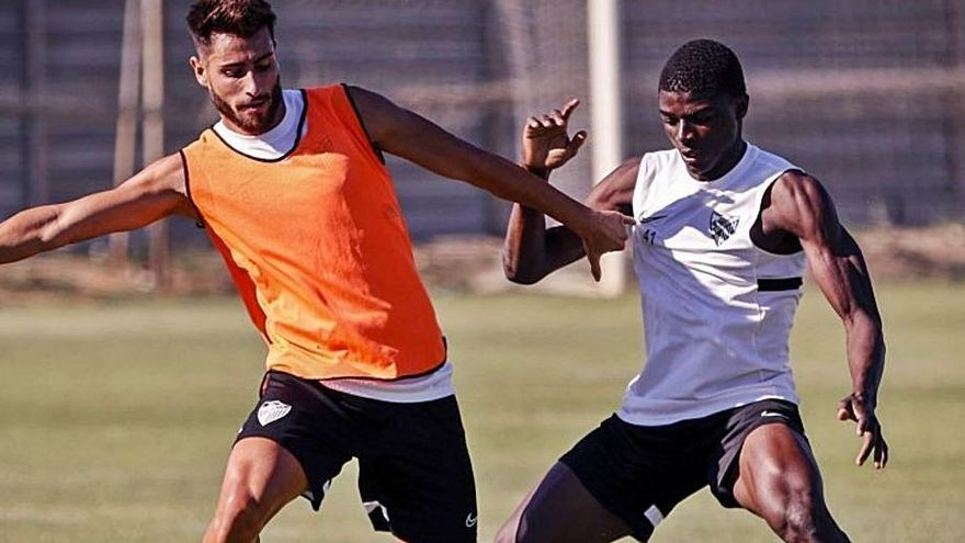 Luis Muñoz y Moussa Diarra, ayer