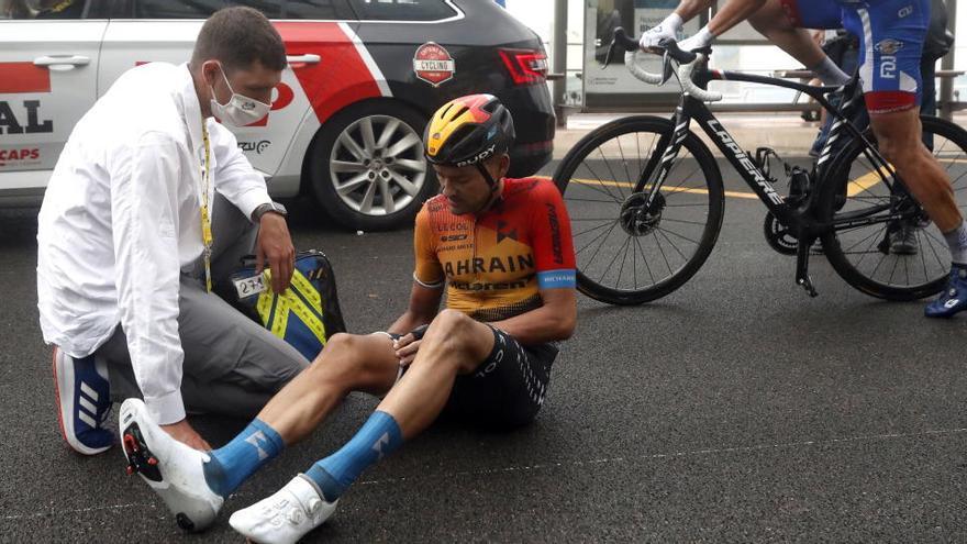 El contestano Valls abandona el Tour con una fractura de fémur