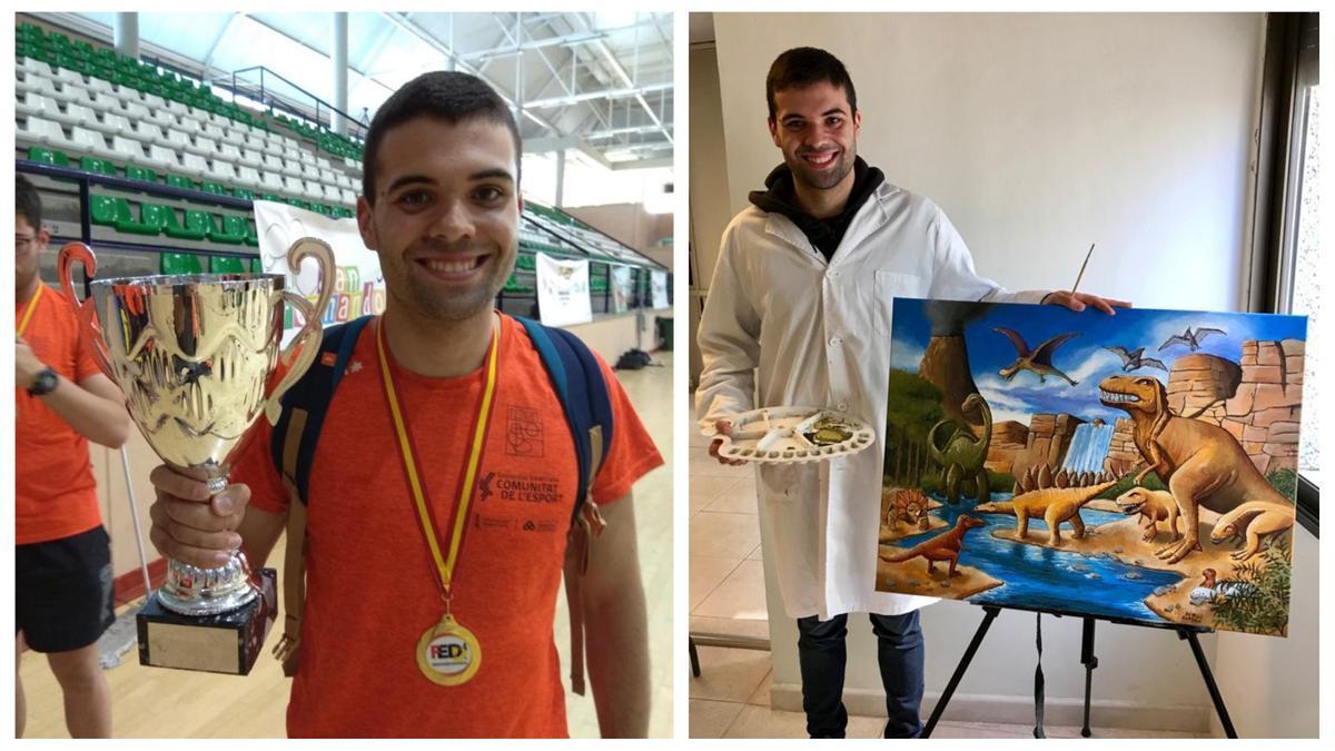 Sergi destaca en dos facetas: La natación y la pintura. Todo un campeón 'made in Vinaròs'.