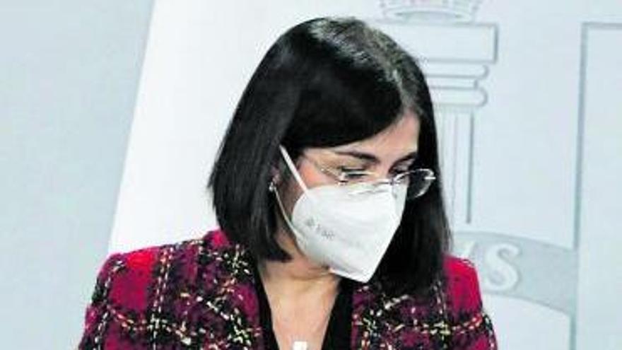 Carolina Darias, tras la reunión del comité de seguimiento del Covid.