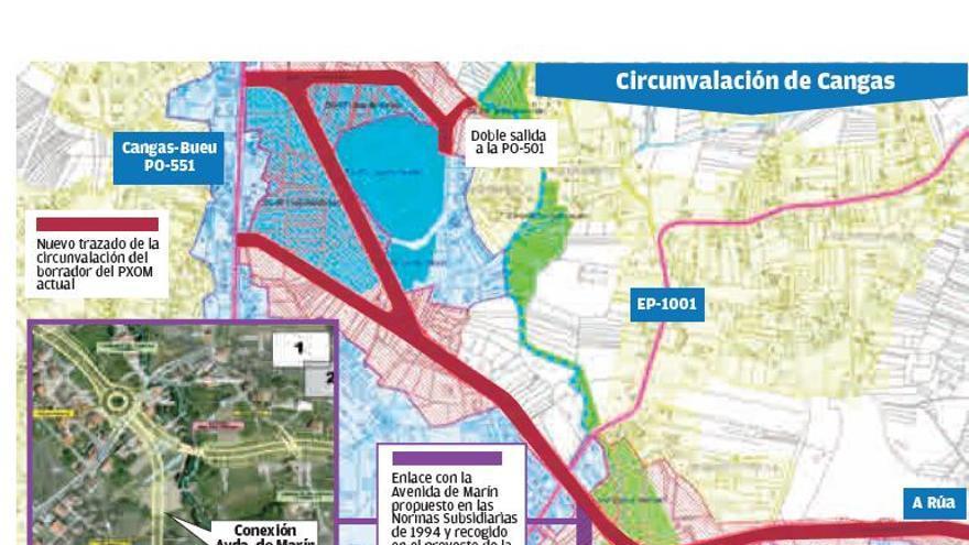 La Xunta descarta la circunvalación de Cangas y el PMUS busca aparcamientos disuasorios en el casco