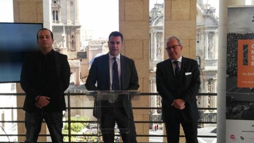 Scariolo, Toni Nadal y Lete, en el primer Congreso Murcia Sport Business