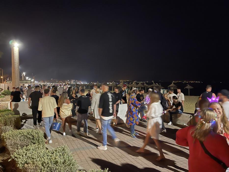 Urlauber und Einheimische feierten an der Playa de