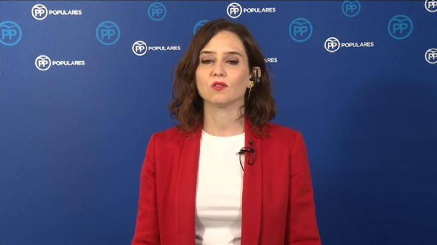 """Díaz Ayuso, contenta por """"Madrid y por España"""""""