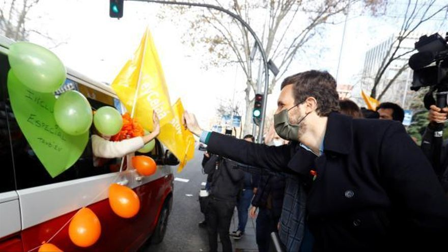 La protesta contra la ley Celaá llena de coches varias ciudades de España