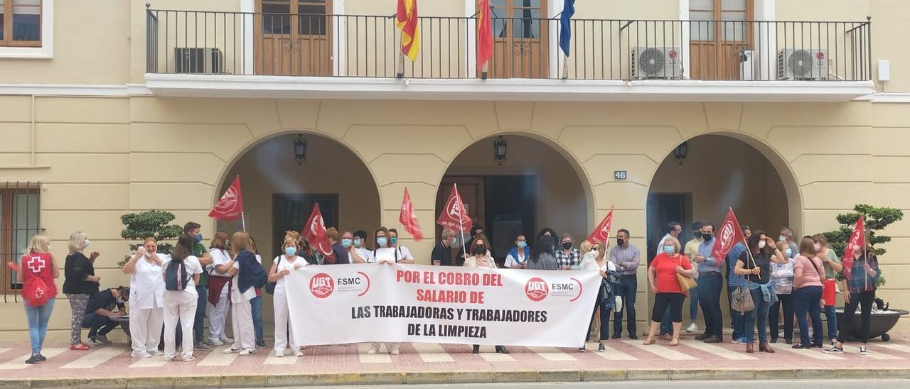 Concentración de trabajadores el pasado 28 de mayo