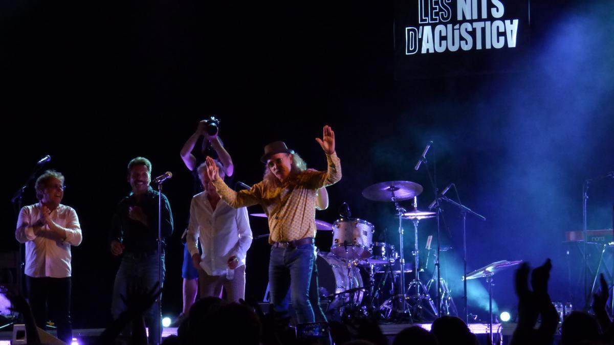 Els Pets durant el seu concert a Les Nits d'Acústica