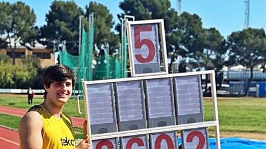 Gimeno y Almiñana baten dos nuevos records del CA Safor Teika
