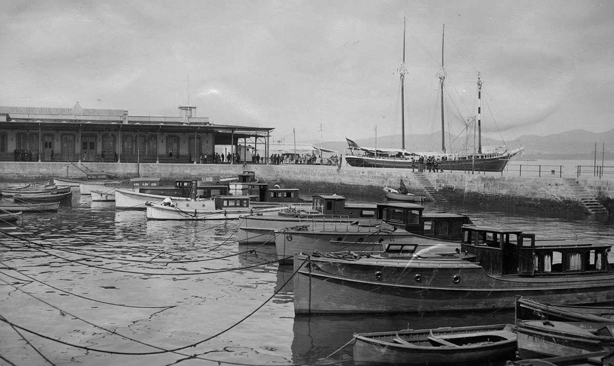 Dársena y muelle de pasajeros 1920 -1936