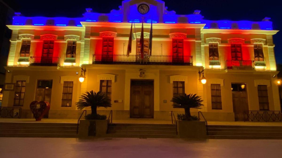 Iluminación del Ayuntamiento de Burjassot