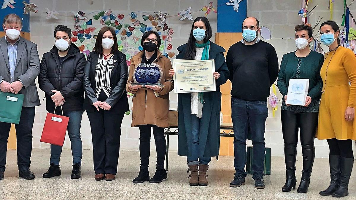 Entrega del Premio Galego de Educación al colegio Virxe da Cela | L.O.