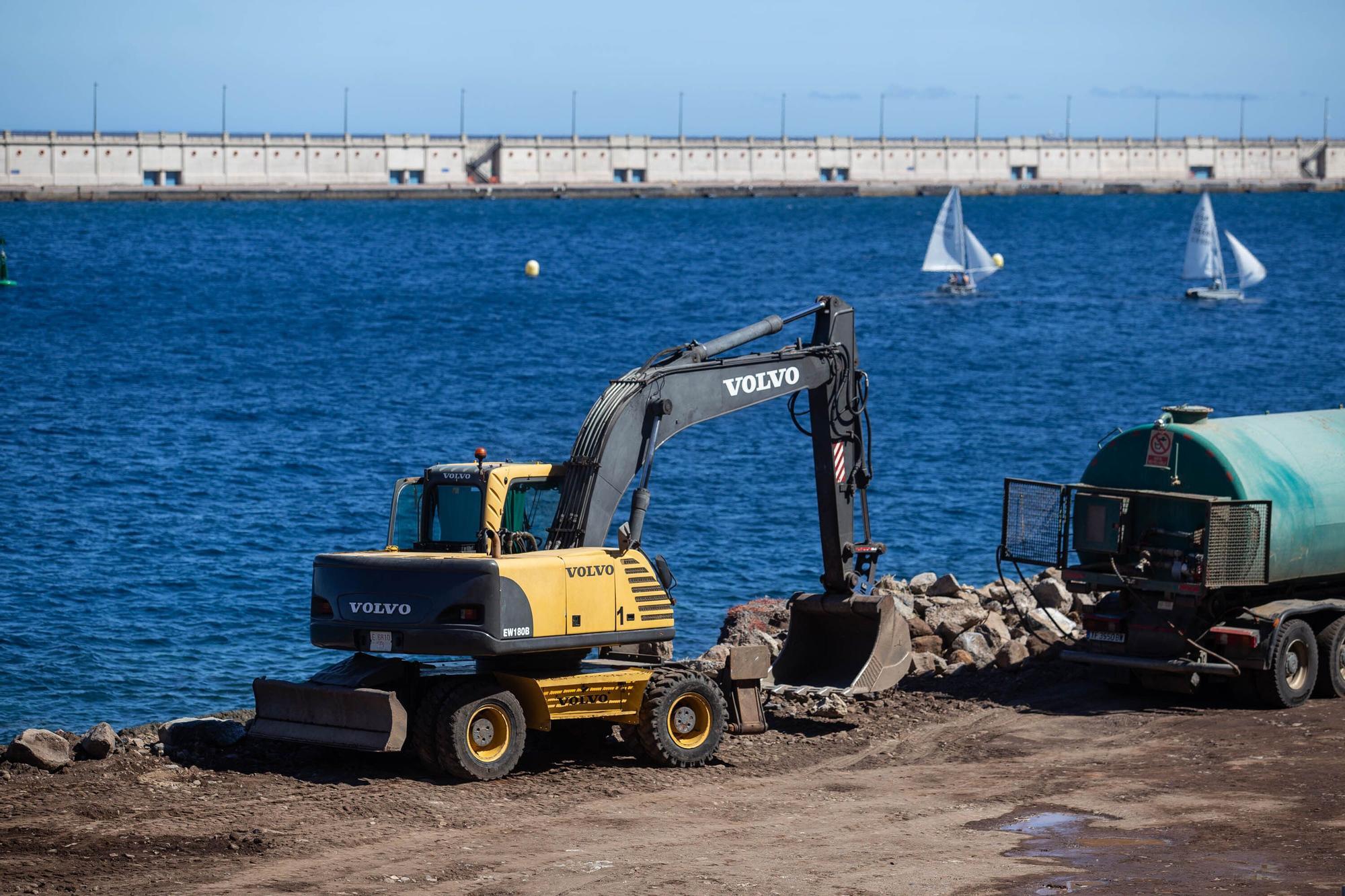 Obras en la playa de Valleseco