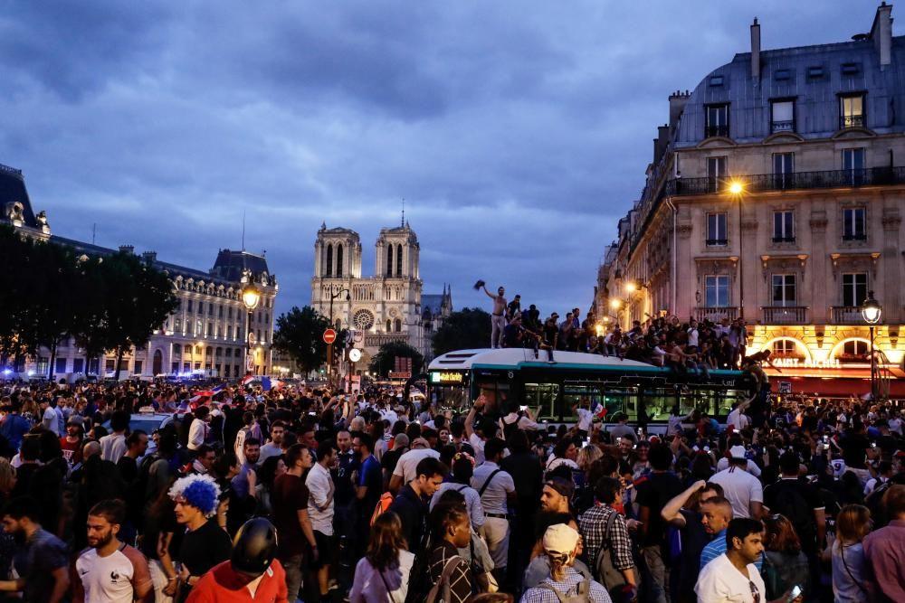 Celebraciones por el pase de Francia a la final