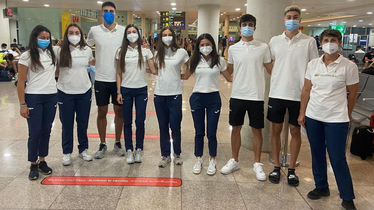 La expedición con los ocho aragoneses para el Europeo sub-20