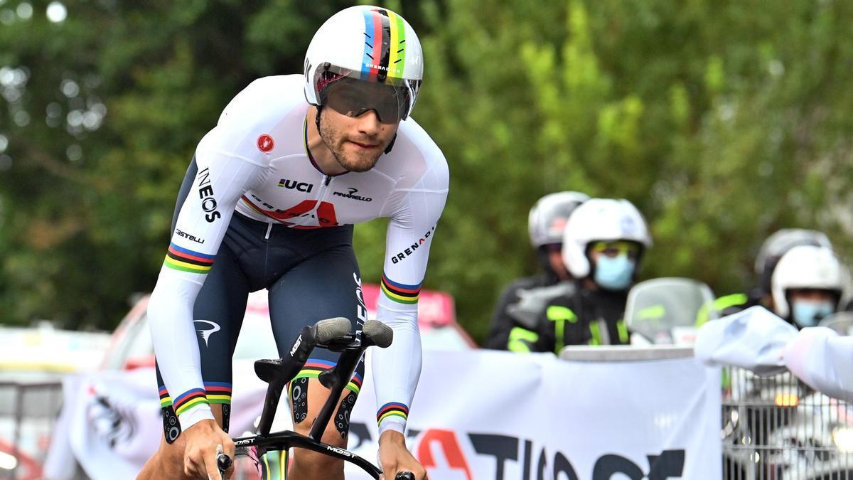 Filippo Ganna se lleva la etapa 1 del Giro de Italia.