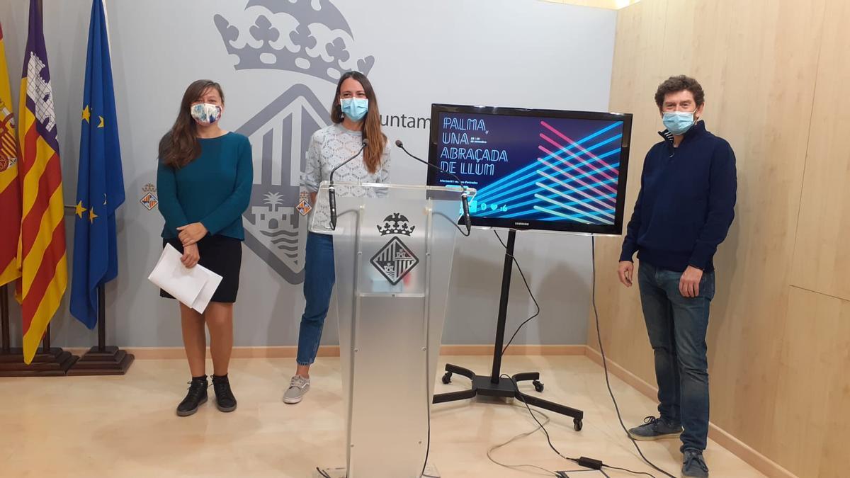 Elisa Martínez, Claudia Costa y Alberto Jarabo.
