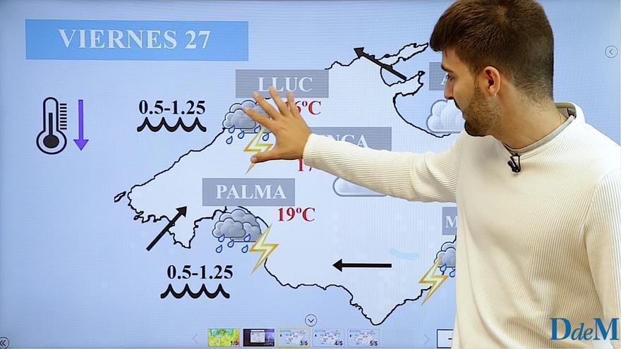 El tiempo del fin de semana en Mallorca: aguaceros y tormentas