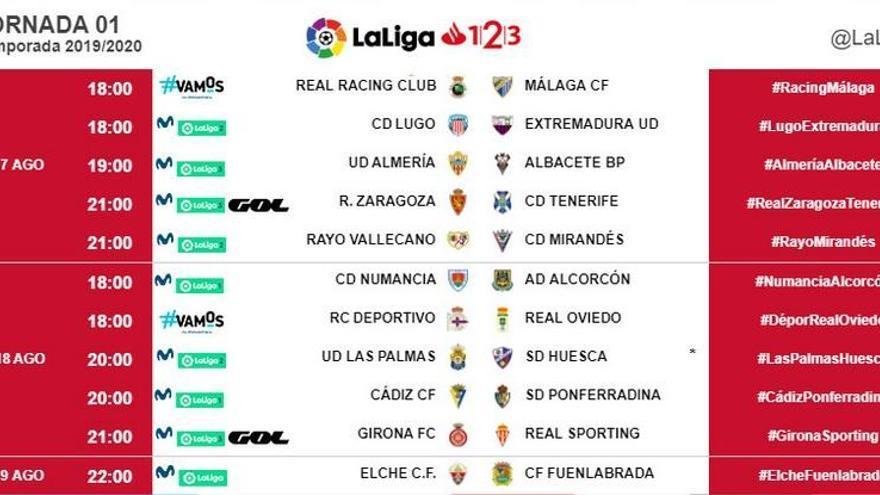 El Málaga CF ya conoce fecha y hora de los tres primeros partidos ligueros