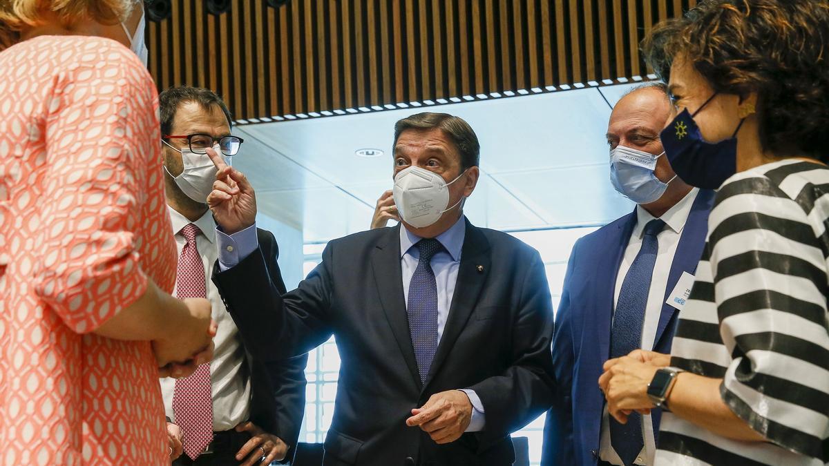 Luis Planas, ayer en Luxemburgo, tras la reunión de los ministros.