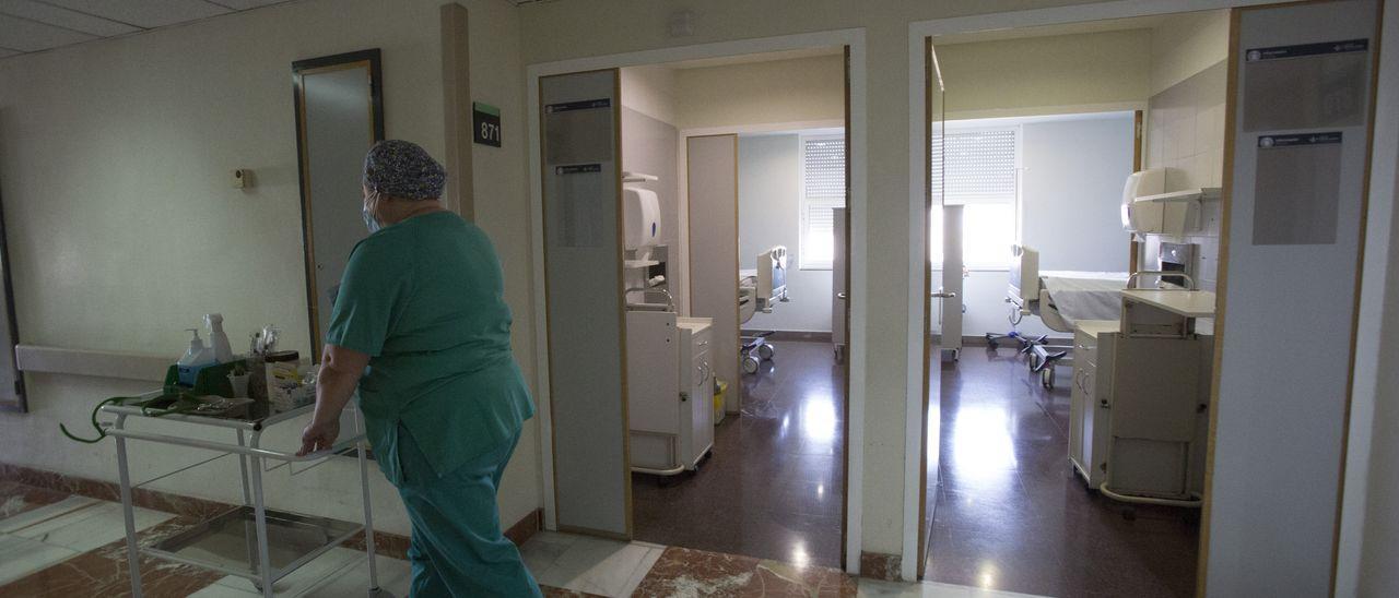 Personal sanitario en un hospital de la provincia de Alicante