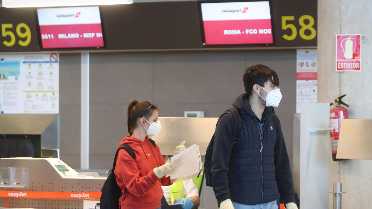 Aeropuerto de València durante la pandemia.