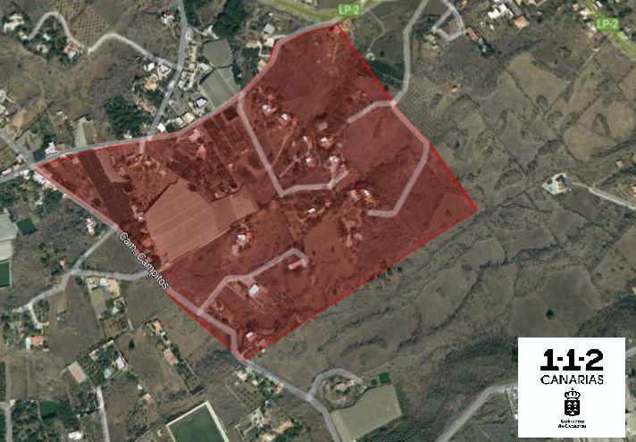 Zona que se ha ordenado evacuar este miércoles por la noche.