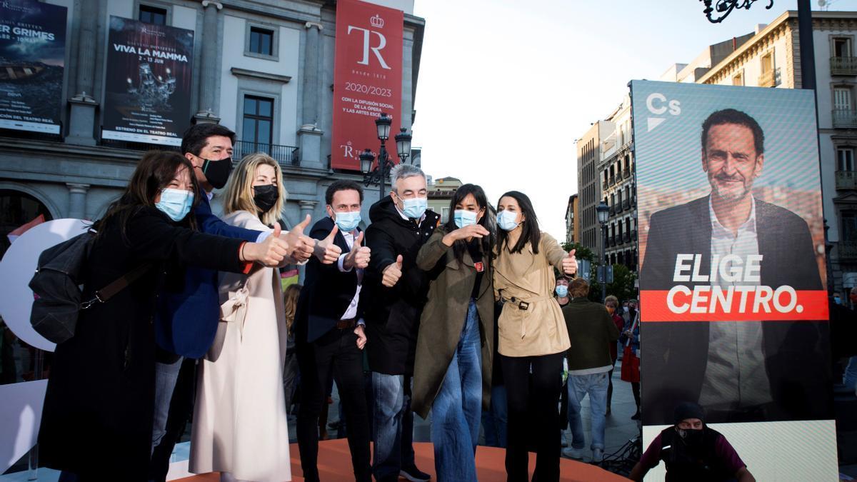 Acto de inicio de campaña de Cs en Madrid.