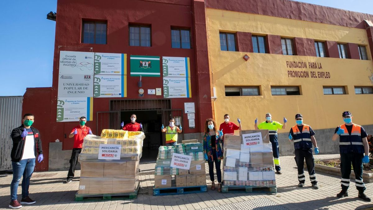 Spar Gran Canaria donates 200,000 kilos of food in 2020 through NGOs