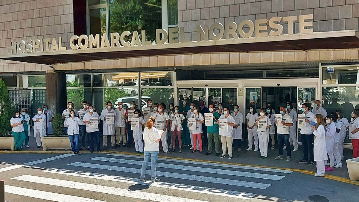 Protesta por la falta de sanitarios en Caravaca.