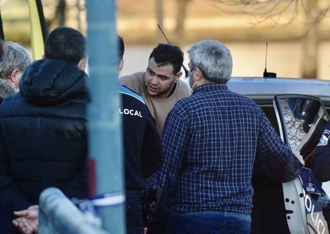 La detención del hombre que se tiró al río Lérez para huir de la policía