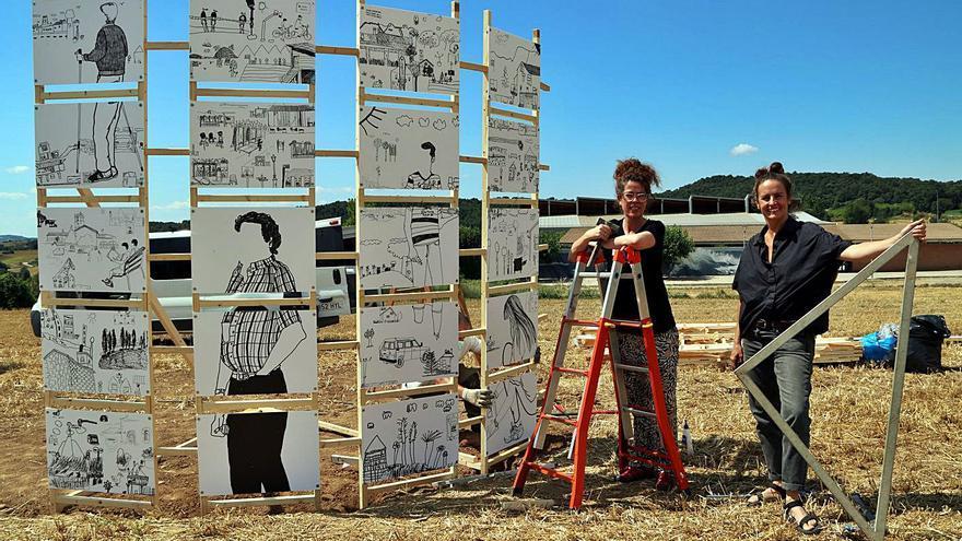 Avià estrena una fita al mig d'un camp amb mig miler de dibuixos autòctons