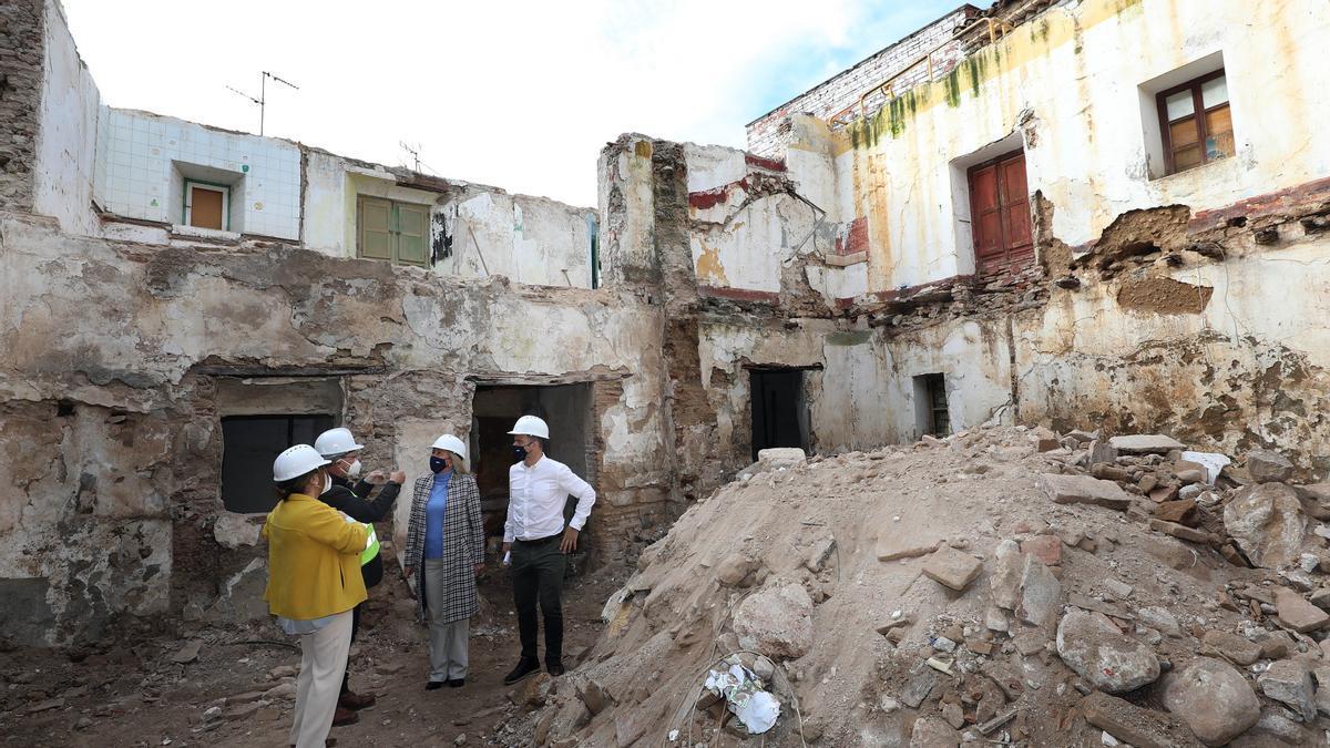 Obras de ampliación del Museo del Grabado con su demolición interna.