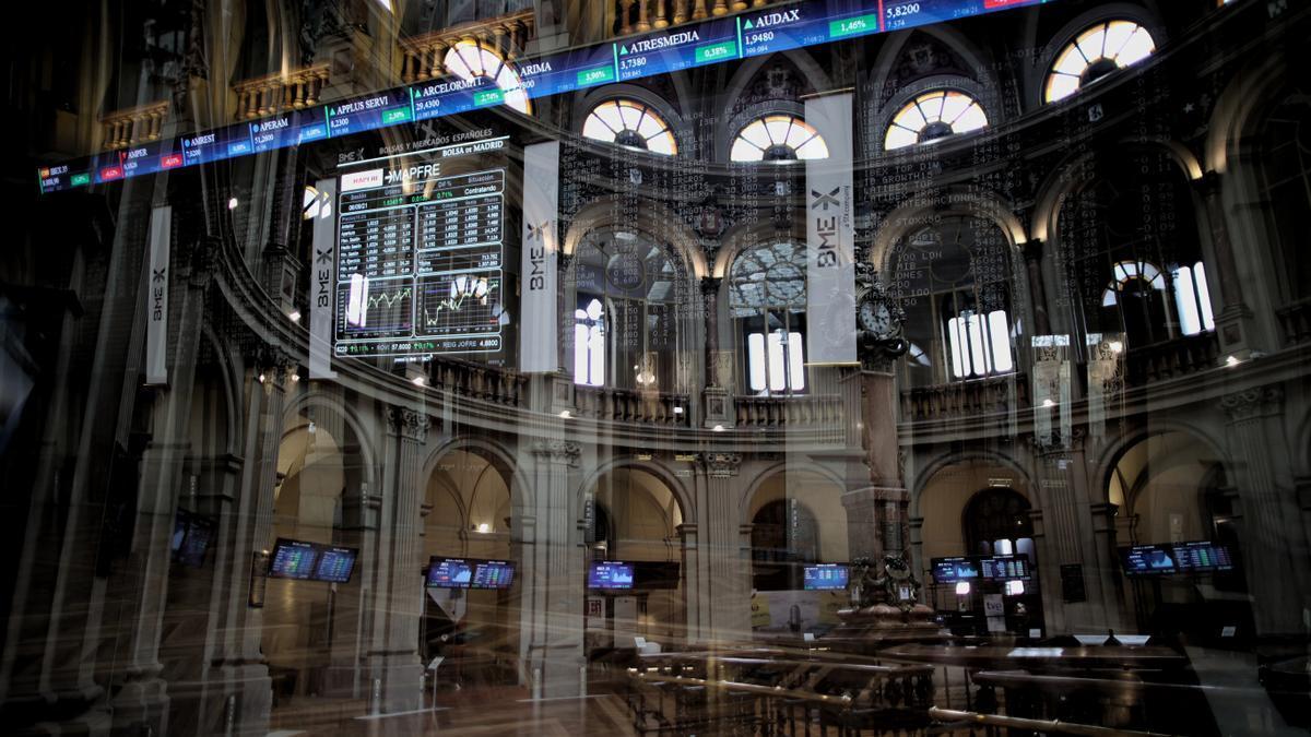 Una imagen del interior del Palacio de la Bolsa de Madrid.