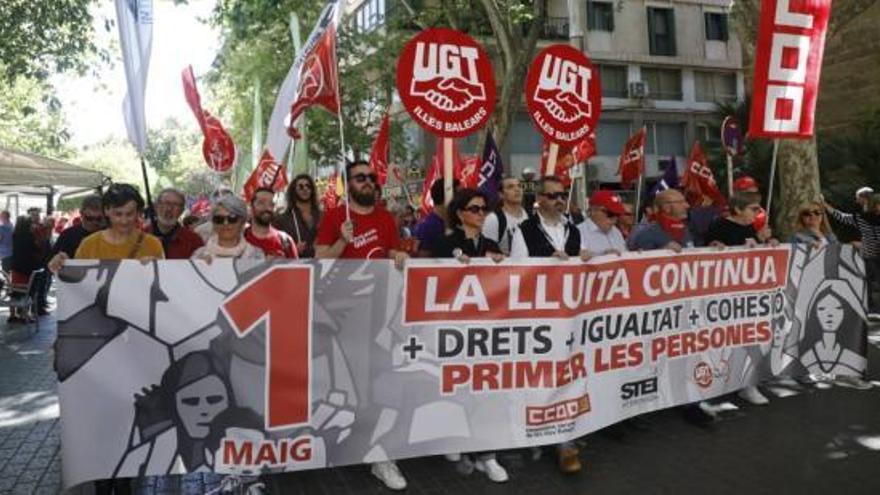 Mai-Kundgebung mit rund 2.000 Teilnehmern auf Mallorca