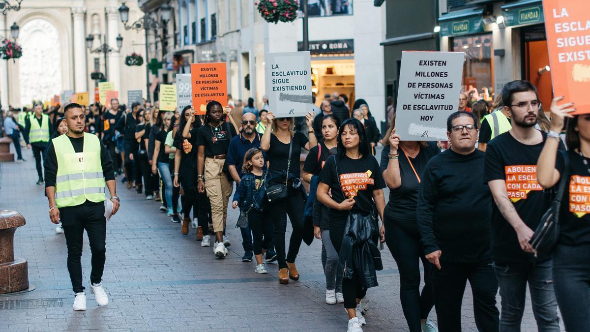 Imagen de la marcha silenciosa del 2019