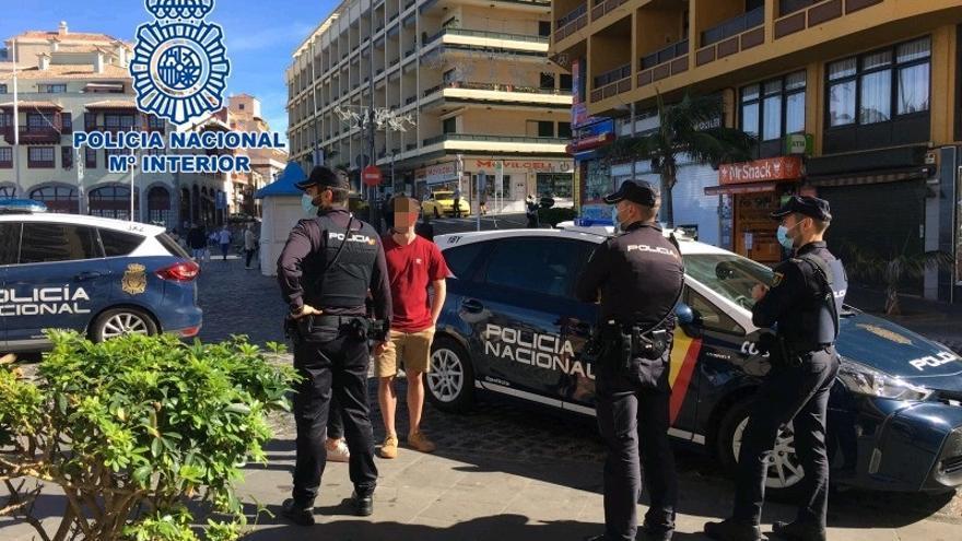 Tres familiares detenidos por robos en una misma noche en Los Realejos