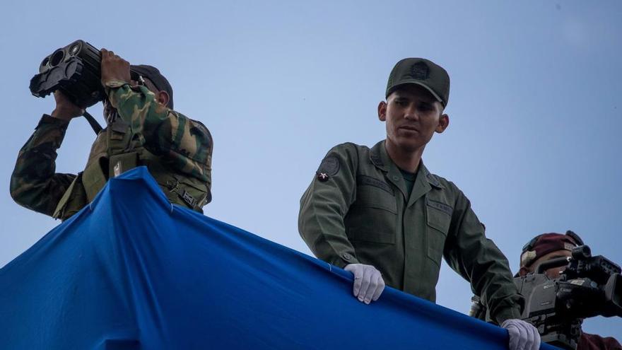 El momento del ataque contra Maduro