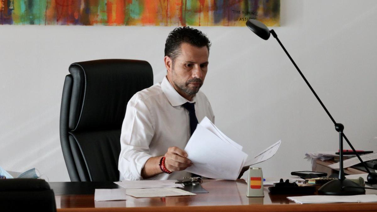 Mario Gómez, ayer, durante la celebración de la Junta de Gobierno del Ayuntamiento.