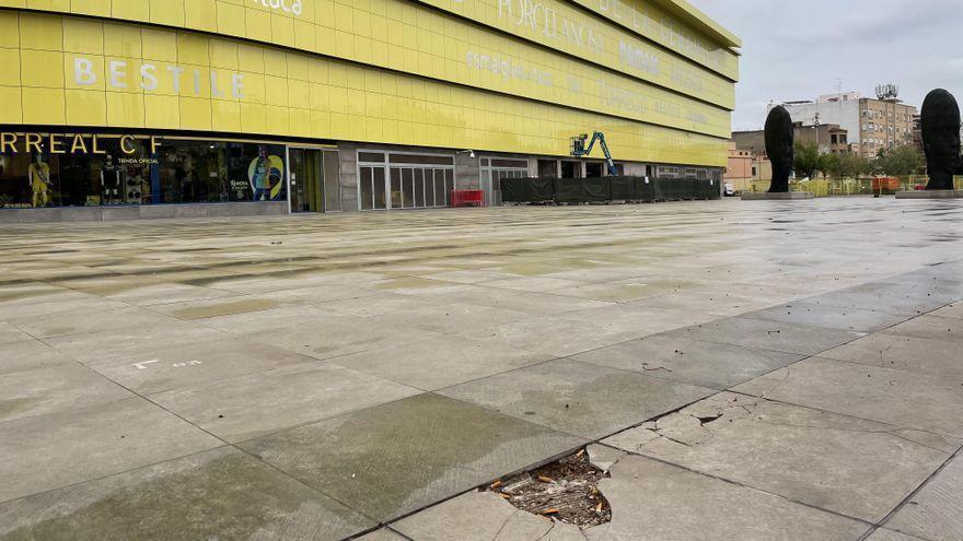 Nuevo pavimento para la plaza del exterior del Estadio de la Cerámica de Vila-real