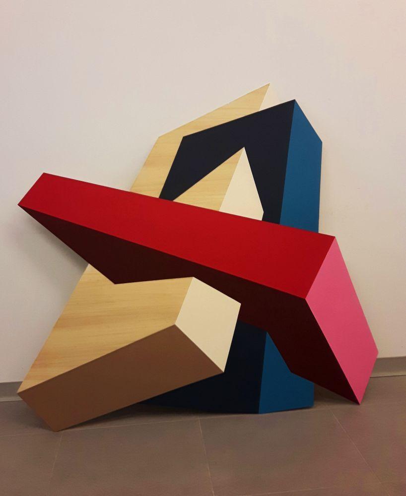 """Algunas de las creaciones que pueden verse en la muestra de la ciudad alavesa """"Arte Gasteiz & Vigo"""""""