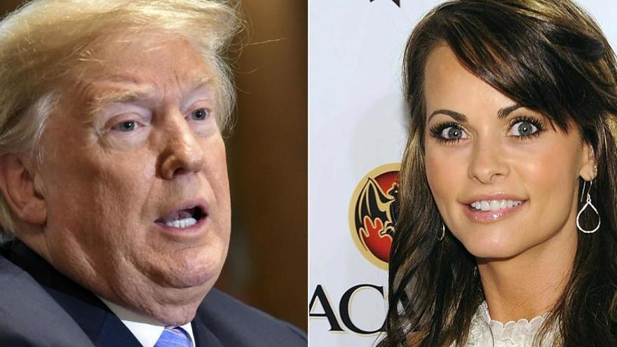 Trump critica que le grabaran hablando de pagos para callar a una exmodelo de Playboy