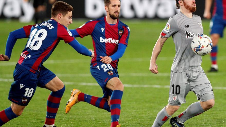 Levante y Athletic firman tablas a la espera del duelo copero