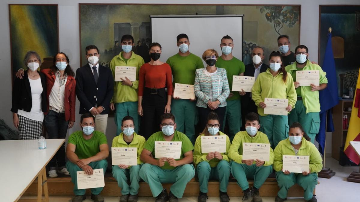 Participantes en el programa mixto de formación de Moraleja